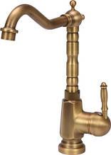 """Смеситель для раковины с шаровым регулятором """"RETRO BRONZE 3"""" FALA 75832 (Польша)"""
