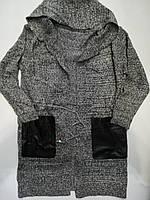 """Кардиган женский вязаный с капюшоном, размер 42-46  """"LATTE"""" купить недорого от прямого поставщика"""