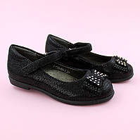 Туфли для девочки Черные Бант тм Том.м размер 28,29,32,33,34,35