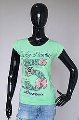 Модная женская футболка с рисунком «Счастливый номер»