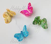 Бабочки из перьев_ЦВЕТНОЙ МИКС 4 шт., фото 1