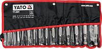 Набор пробойников для кожи 2-22 мм 15 предметов YATO YT-3591 (Польша)