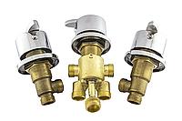 Кран встраиваемый на борт ванной, смеситель для гидромассажной ванны, на три потока (CKLJ6702) Комплект 3 шт.