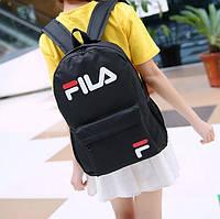 Спортивный рюкзак в стиле Fila А4 Черный Нейлон