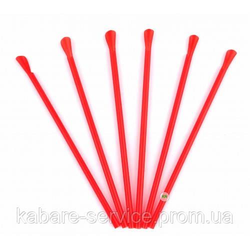 Трубочка (лопатка) красная USA 20 см 6 мм 100 шт