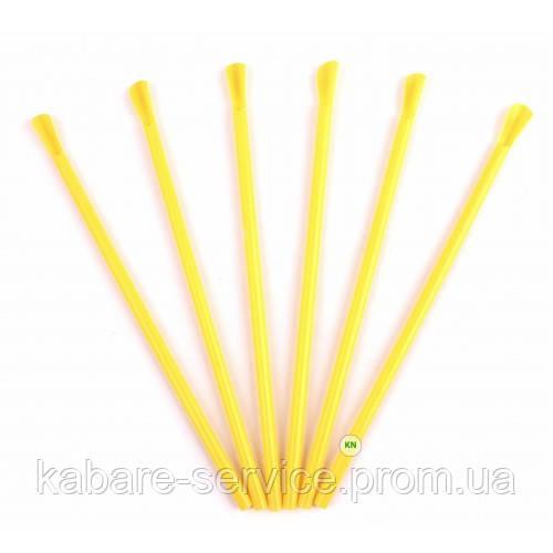 Трубочка (лопатка) желтая USA 20 см 6 мм 100 шт