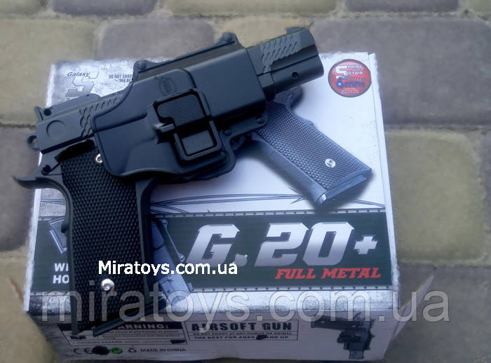 Страйкбольный пистолет Браунинг G20+ с кобурой (Browning HP)