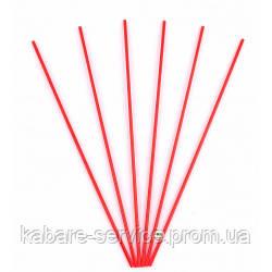 Трубочка (для мохито) красная USA 26 см 3 мм 300 шт