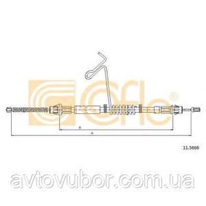 Трос ручника правый 1310-1018mm Ford Connect 2002-2013