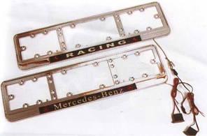 Рамка под номер NEON-Racing/хром/стекло/подсветка