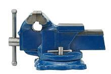 Тиски слесарные поворотные с наковальней 125 мм Vorel 36038 (Польша)