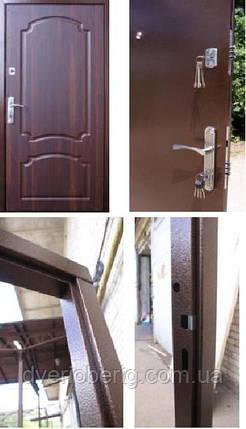 Входная дверь Qdoors Лайт М Оптима темный орех, фото 2