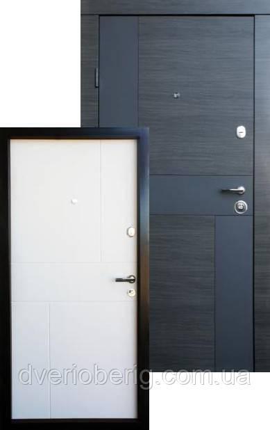 Входная дверь Qdoors Премиум Стиль-М венге серый горизонт АРТ - белое дерево