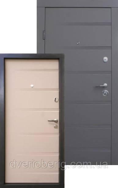 Входная дверь Qdoors Премиум Роял смоки софт - латте софт