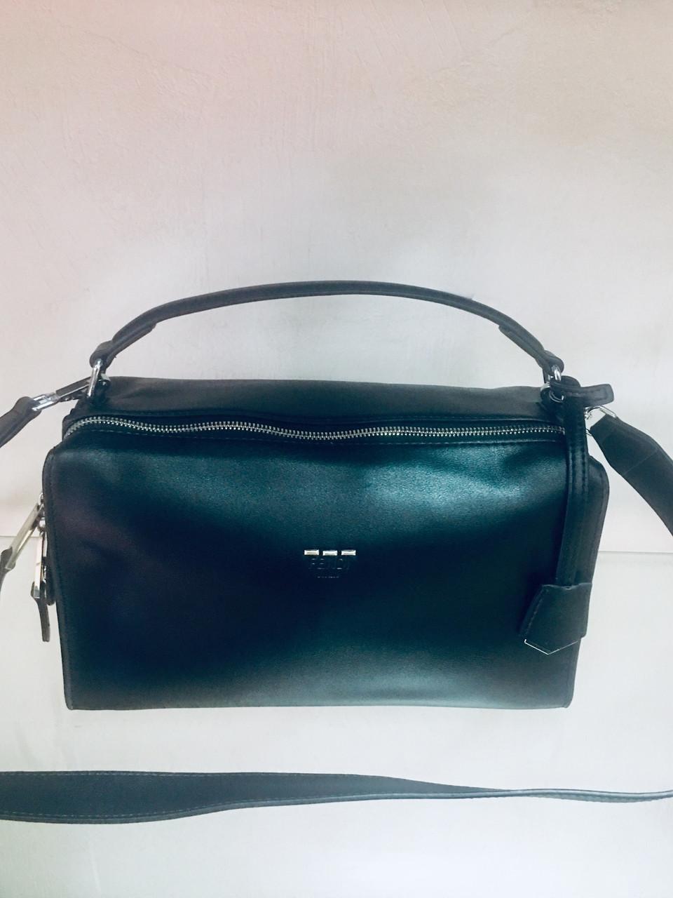 Сумка Fendi бренд LUX копия чёрная
