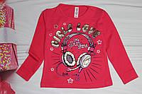Реглан - футболка с длинным рукавом для девочки Турция от 92 до 140 рост