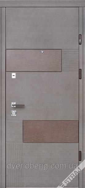 Входная дверь Страж Вулкан Стандарт венге серый горизонт