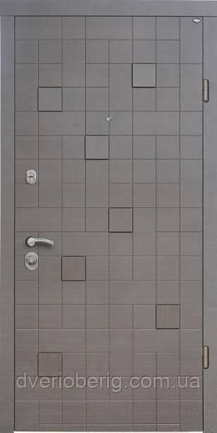 Входная дверь Berez Стандарт Каскад Plus венге серый горизонт