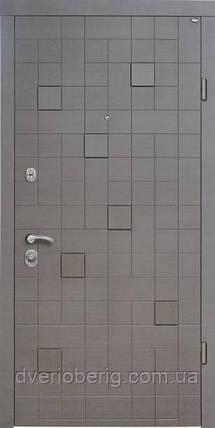 Входная дверь Berez Стандарт Каскад Plus венге серый горизонт, фото 2
