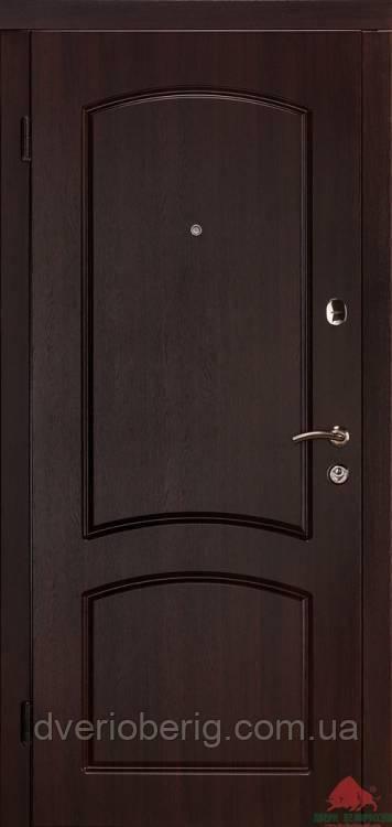 Входная дверь Двери Белоруссии (входные) Стандарт Капри-В темный орех