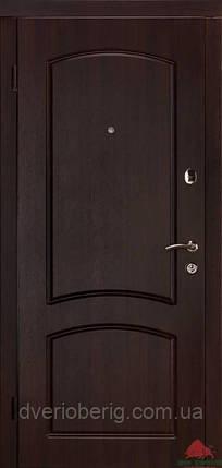 Входная дверь Двери Белоруссии (входные) Стандарт Капри-В темный орех, фото 2