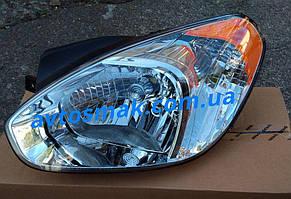 Фара передняя для Hyundai Accent '06-10 левая (DEPO) под электрокорректор