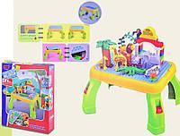 Конструктор для малышей Зоопарк со столиком RPC (3688A)