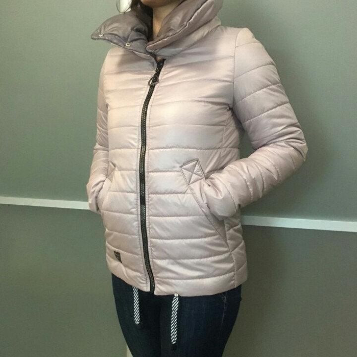 Модная куртка осенняя женская  46-56 бежевый