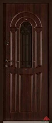 Входная дверь Двери Белоруссии (входные) Средний сегмент ФЛОРА ОРЕХ КОНЬЯК, фото 2
