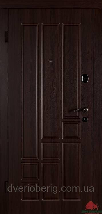 Входная дверь Двери Белоруссии (входные) Средний сегмент ТИТАН ТЕМНЫЙ ОРЕХ