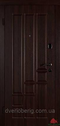 Входная дверь Двери Белоруссии (входные) Средний сегмент ТИТАН ТЕМНЫЙ ОРЕХ, фото 2