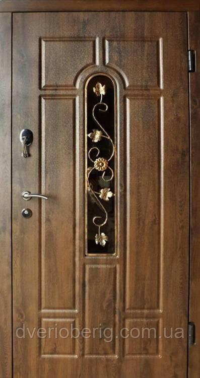 Входная дверь Redfort Стандарт Плюс Арка с ковкой Vinorit Стандарт Плюс