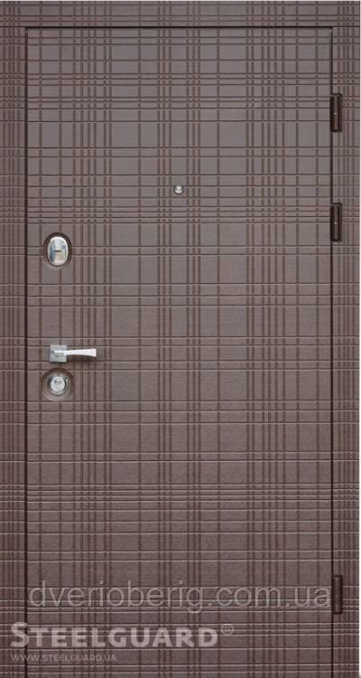 Входная дверь Steelguard Maxima Scotch Венге горизонт