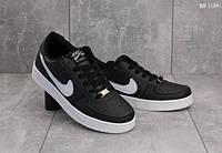 Мужские кроссовки Nike Air Force 1 low (черно-белые)