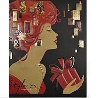 Тетрадь школьная, картон матовый + выборочный УФ лак + фольга, 48 л., клетка, YES Парижский шик