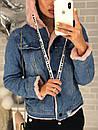 Куртка-парка джинсовая с капюшоном, фото 3