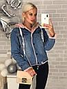 Куртка-парка джинсовая с капюшоном, фото 4