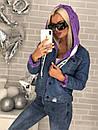 Куртка-парка джинсовая с капюшоном, фото 6