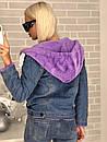 Куртка-парка джинсовая с капюшоном, фото 7
