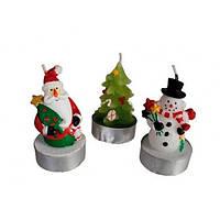 "Свечи в наборе ""Снеговик, ёлочка, Санта"""