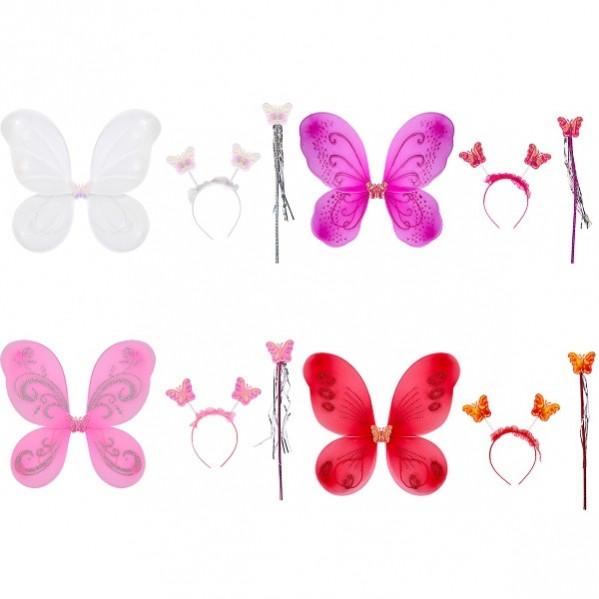 """Костюм """"Бабочка"""" 3 предмета однотонный цветной"""