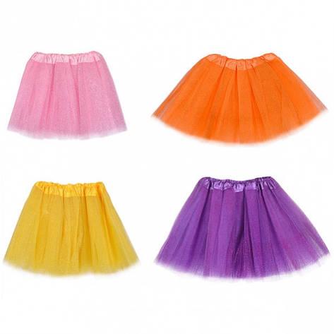 Юбка фатиновая цветная с блеском на резинке, фото 2