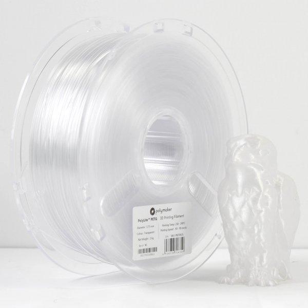 Пластик в котушці PETG PolyLite 1,75 мм, Polymaker, 1кг