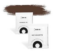 Okis Brow Hot Brunette - крем-краска в саше для бровей,  с окислителем с экстрактом хны, 5 мл