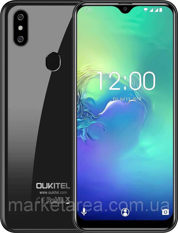 Смартфон оукител черный с двойной камерой и большим экраном на 2 сим карты OUKITEL C15 Pro black 3/32GB