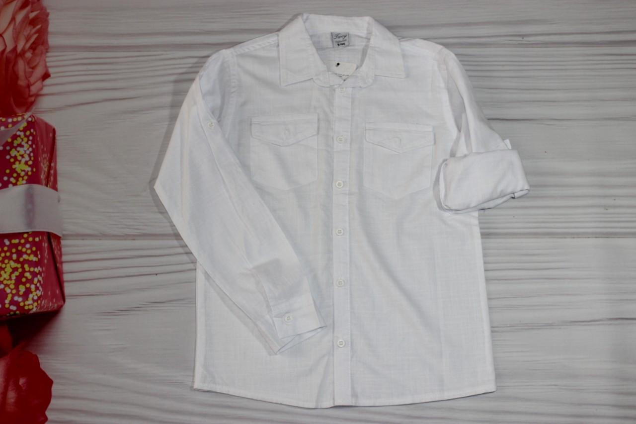 Рубашка для мальчика Белая, красная, голубая, бирюзовая Турция от 9 до 12 лет