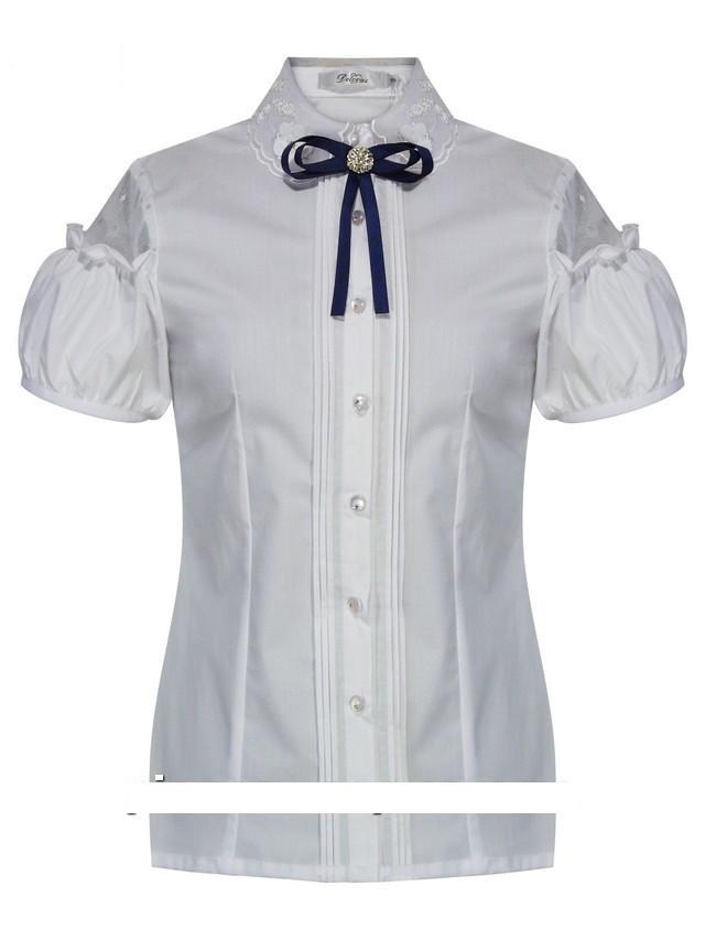 Детская школьная блуза для девочки с коротким рукавом от Deloras 61636 | 128, 146р.