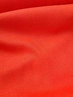 Льняная сорочечная ткань оранжевого цвета, фото 1