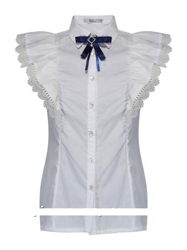 Детская школьная блуза для девочки с коротким рукавом от Deloras 62021 | 122-170р.