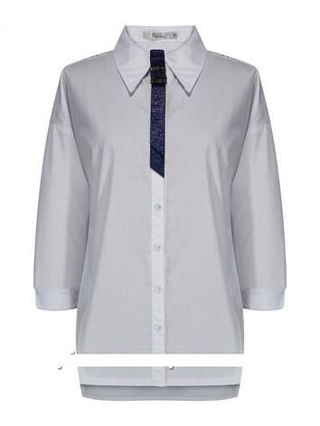 Детская школьная блуза для девочки с рукавом 3/4 от Deloras 62029 | 134-164р., фото 2